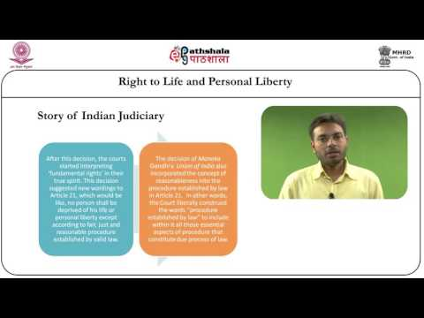 Protection of life and personal liberty (article 21) (LAW)