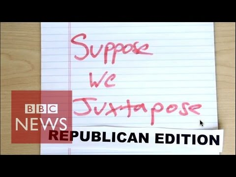 Republican Party (2016) message mash-up - BBC News