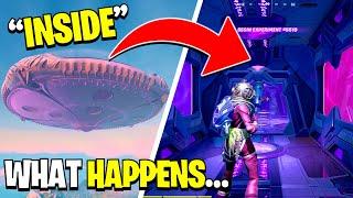 I Got Inside the GIANT UFO in Fortnite Season 7 NEW UPDATE... Here's What Happened! FREE GOLD LOOT!