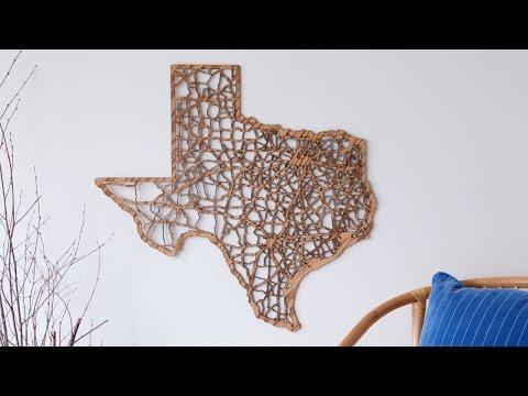 Cut Maps - Laser cut maps