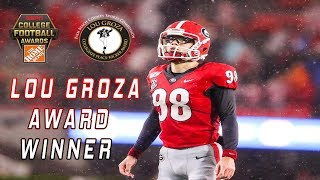 Rodrigo Blankenship Wins The Lou Groza Award | ESPN College Football Awards 2019
