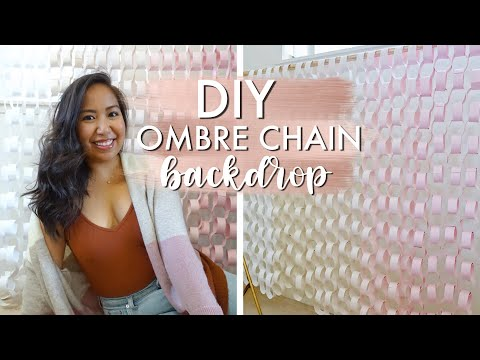 DIY Ombre Paper Chain Backdrop