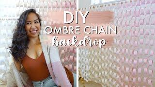DIY Ombre Paper Chain Backdrop   DIY Party Ideas!