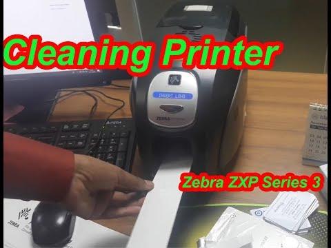 Cleaning Printer Zebra ZXP Series 3