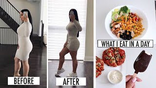 WHAT I EAT IN A DAY TO LOSE WEIGHT + MY WEIGH-IN!