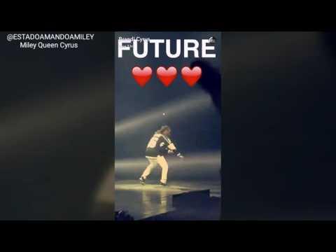 Miley Cyrus, Liam Hemsworth and Brandi Cyrus at Drake x Future concert in LA