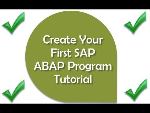 Learn SAP ABAP Basics - SAP Training - Learn ABAP Basic Programming and Create Your First Program