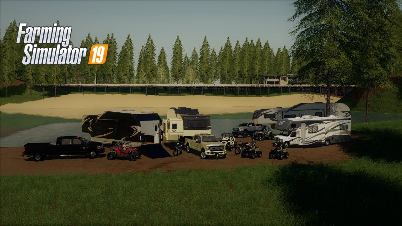 CAMPING WITH THE SQUAD BUCK & PICKLE FARMING SIMULATOR 19