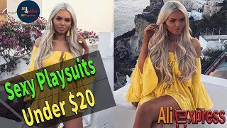 AliExpress: Lily Rosie Girl Indoor Shoulder Yellow Hot Playsuits for Women