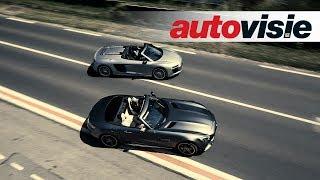 Autovisie TV: Mercedes-AMG GT C Roadster versus Audi R8 Spyder