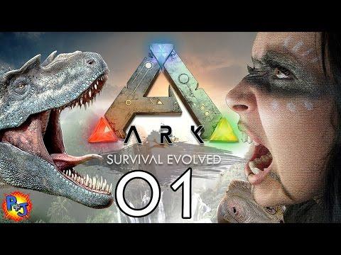 Let's Play ARK: Survival Evolved PS4 Split-screen | Co-op Multiplayer Gameplay | Part 1 (P+J)