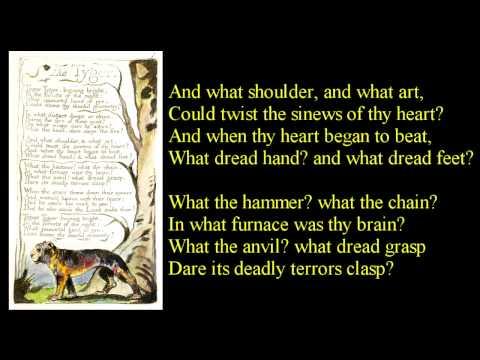 Tyger! Tyger! burning bright  ~ poem reading with text