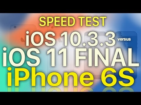 IPhone 6S : IOS 11 Final Vs IOS 10.3.3 Speed / Performance / Benchmark Test