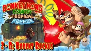 "Donkey Kong Country: Tropical Freeze - Part 16 | ""Rodent Ruckus"" 2-B 100% Walkthrough!"