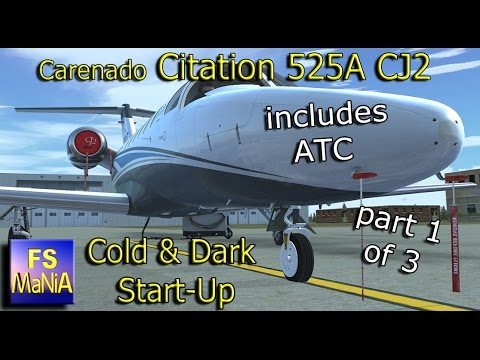 Carenado Citation 525A CJ2 Cold & Dark Start part 1