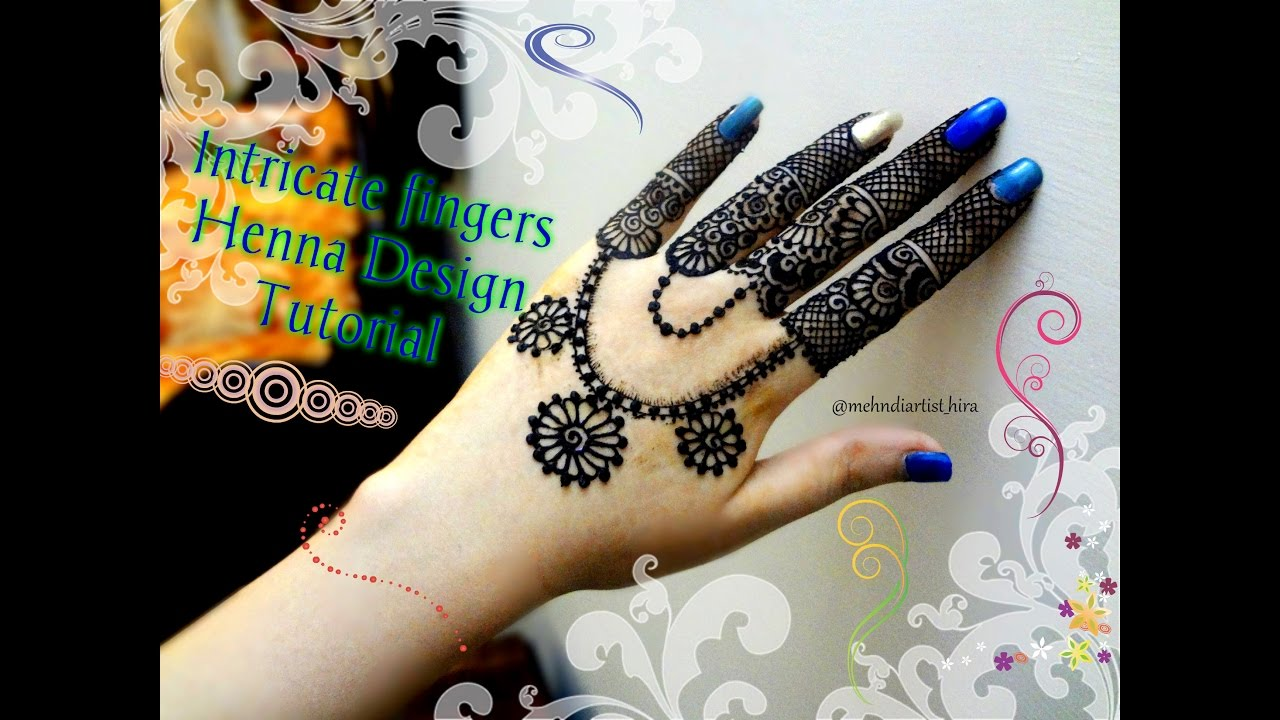 Mehndi Fingers Rating : Easy simplel intricate fingers and jewellery mehndi designs for