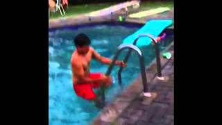 Gainer flip into pool
