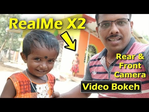 Realme X2 Video Bokeh Test In Both Front And Back Camera | Realme X2 Video Background Blur