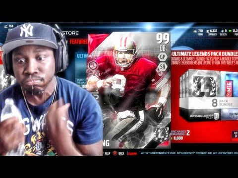 99 STEVE YOUNG ULTIMATE LEGEND PACK OPENING! Madden 16 Ultimate Team Gameplay Ep. 57