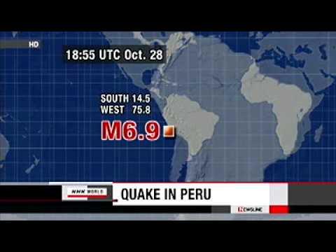 PERU  Magnitude 6.9 quake hits Peru  29 Oct 11