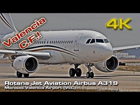 Valencia CF [4K] Corporate Jet Airbus A319  Rotana (A6-RJJ)