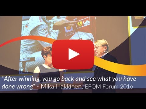 EFQM Forum 2016 - Driving beyond the Limits with Mika Hakkinen