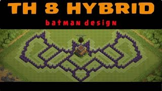 "Desain Base ""Batman"" Untuk TH 8 [Speed Build]"