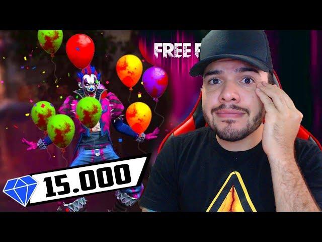 GASTEI 500R$ REAIS ATRÁS DA SKIN DO PALHAÇO NO FREE FIRE!!!! (SKIN JOKER)