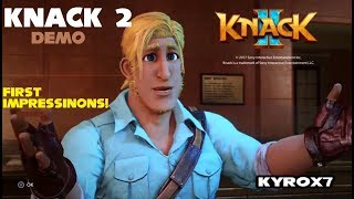 Knack 2 Demo on Playstation 4 Pro! K Y R O X7 First Impressions! 11 Minutes of Gameplay!