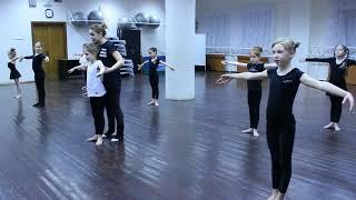 Видео-урок (I-семестр: декабрь 2017г.) - филиал Заречный, группа 7-13 лет, Современный танец