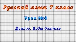 Русский язык 7 класс (Урок№8 - Диалог. Виды диалога.)