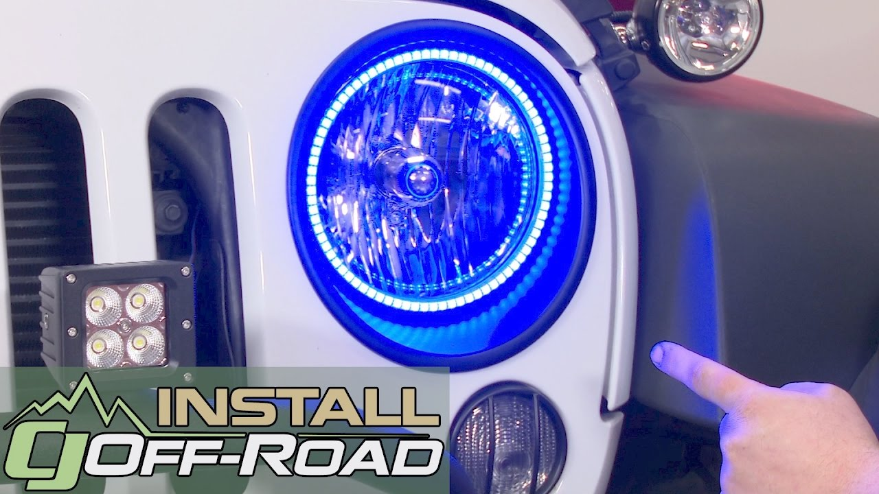 Jeep Wrangler Jk Oracle Lighting Headlight Halo Ring Kit