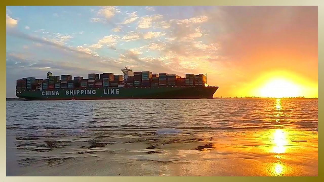 Ex World S Longest Container Ship Cscl Globe Cruising