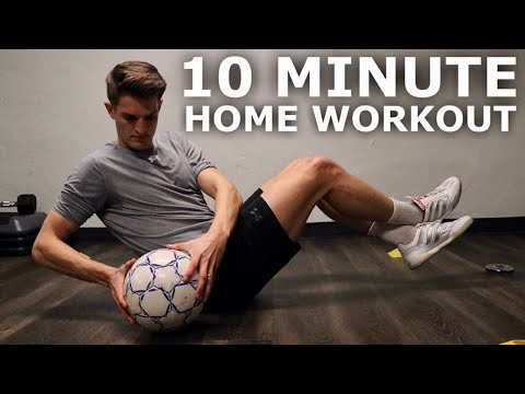 10 Minute Home Workout For Footballers | Full Inside Small Space Training Session