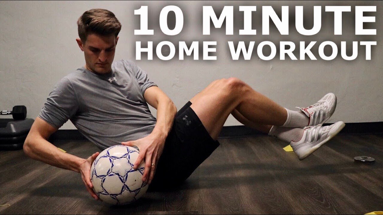 10 Minute Home Workout For Footballers   Full Inside Small Space Training Session