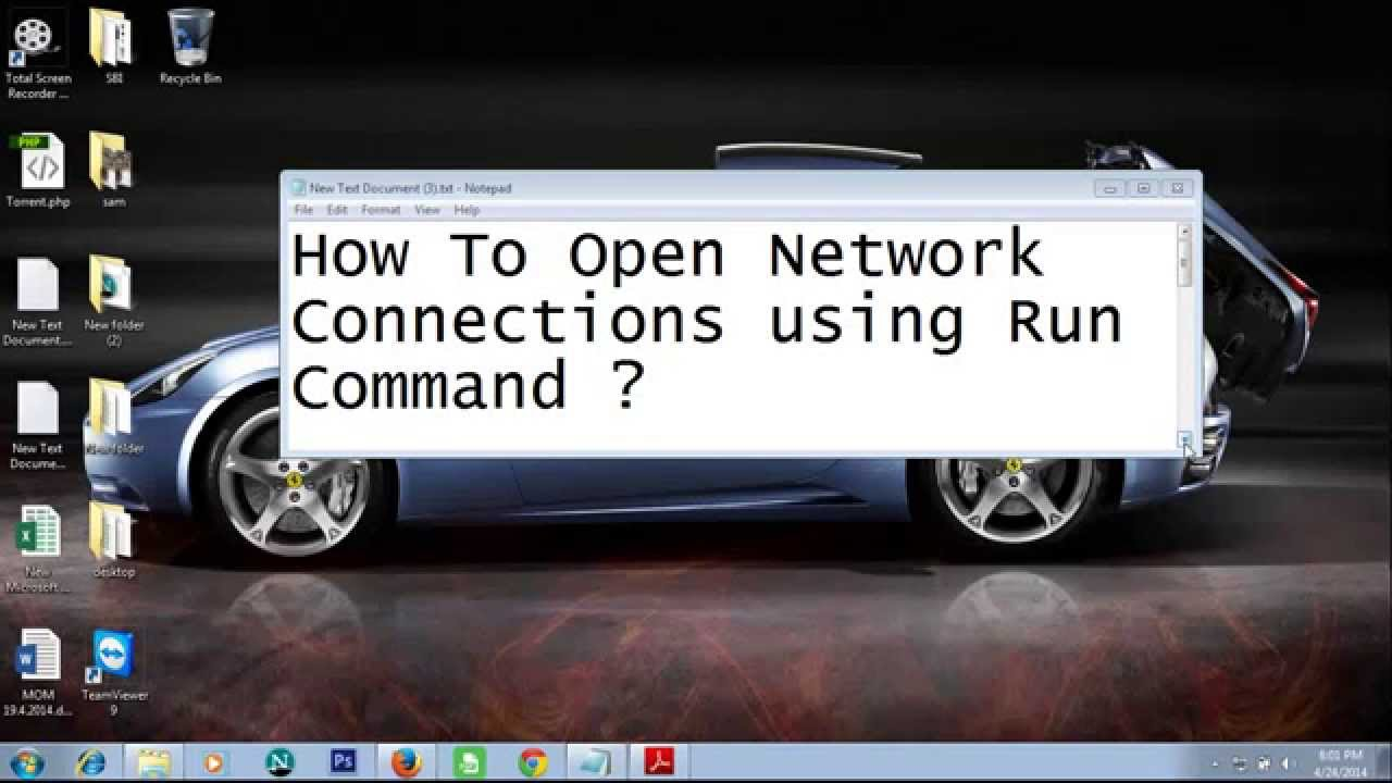 How to open network connections using run command - YouTube