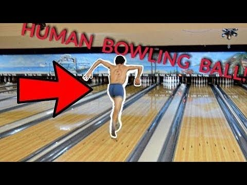 THE HUMAN BOWLING BALL CHALLENGE!!