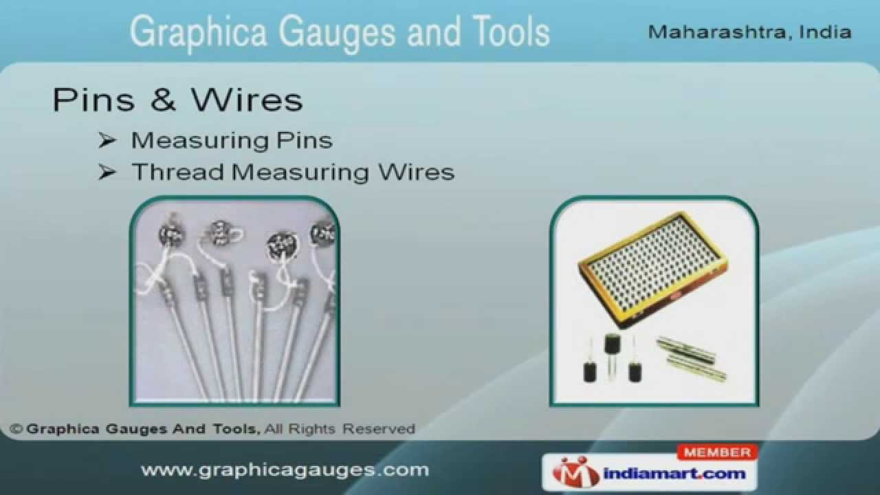 Thread Gauges by Graphica Gauges & Tools, Pune - YouTube
