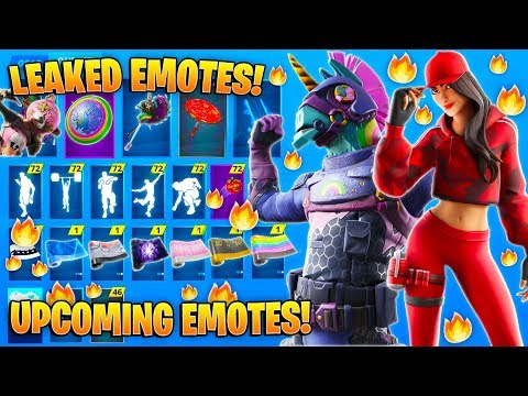 *NEW* All Leaked Fortnite Skins & Emotes..! *LEGENDARY  EMOTE* (Red Jade, Poof, Bush, Ruby..)