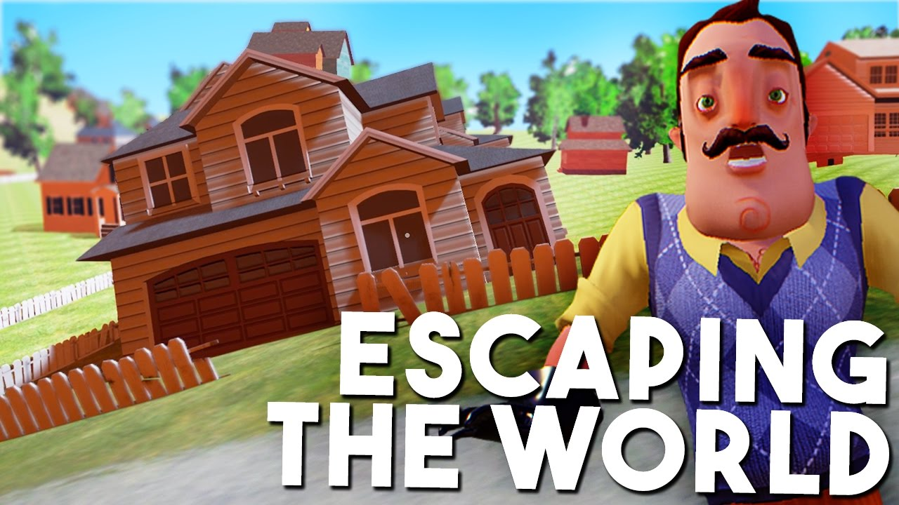 The hello neighbor house - Escaping The World Secret Underground Room Hello Neighbour Hello Neighbor Gameplay Youtube