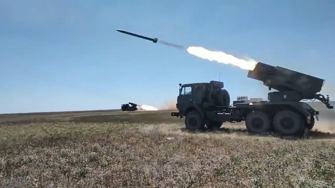 Боевые стрельбы расчетов РСЗО «Град»  в Крыму