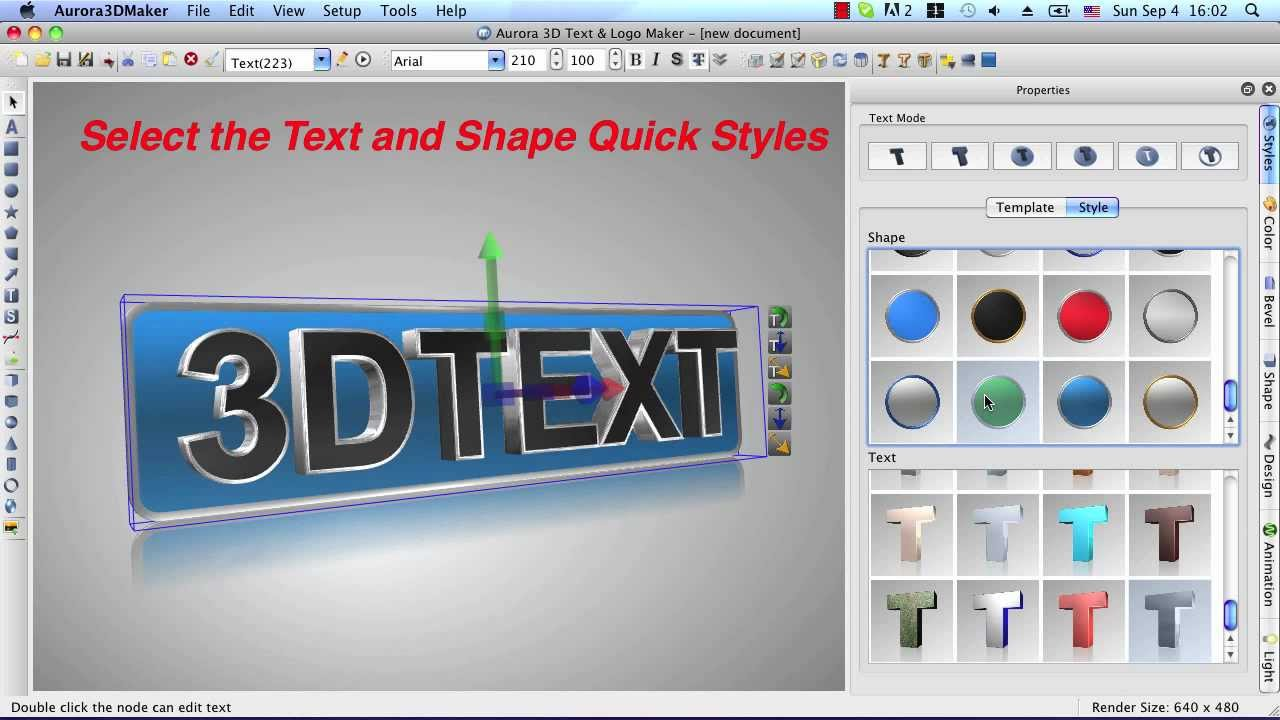 Aurora 3D Maker for Mac - Create 3D Text, Logo, Title Animation and Effects
