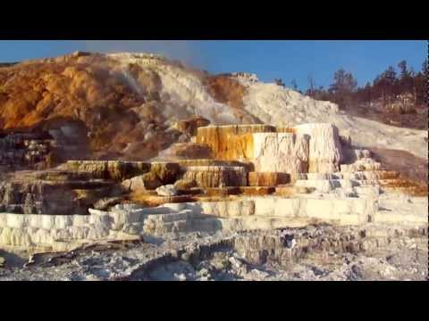 Mammoth Hot Springs in Yellowstone National Park by FlameWall44