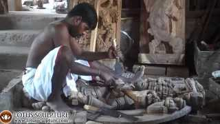 Indian Wood Carvers Making Hindu Wood Statues Www.lotussculpture.com