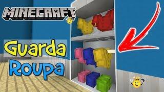 ⭐️Como fazer Closet e Guarda Roupa no Minecraft