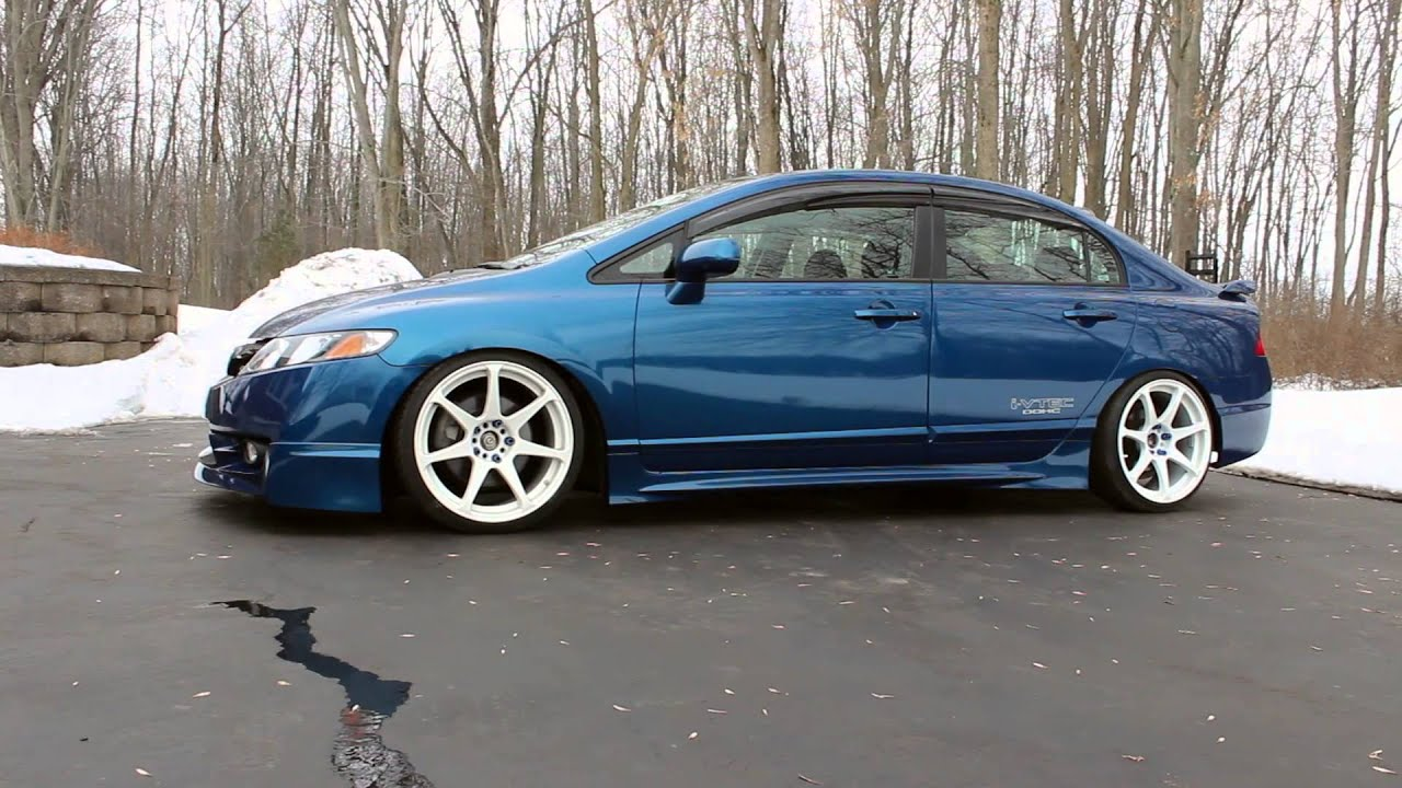 lowered 2009 honda civic si fa5 youtube. Black Bedroom Furniture Sets. Home Design Ideas