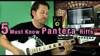 Download 5 Must Know Pantera Riffs! Mp3 and Videos