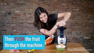This machine makes healthy frozen desserts out of fruit