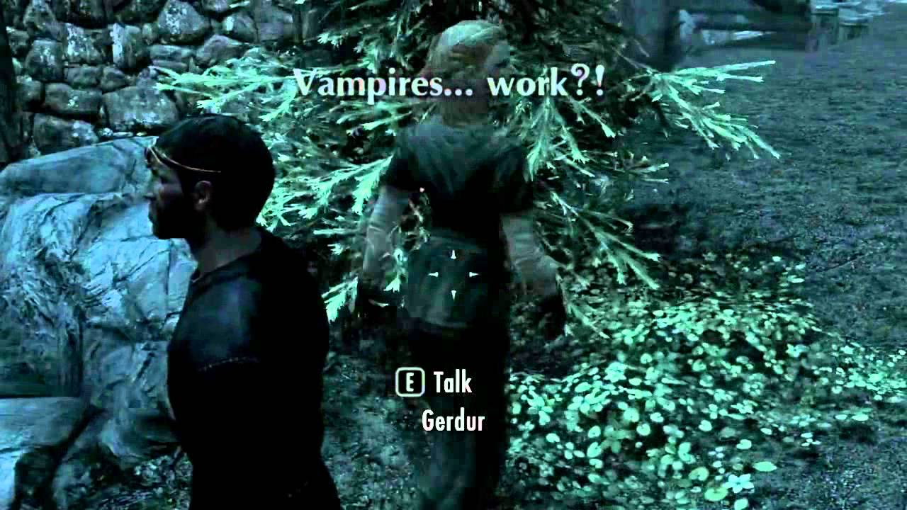 Skyrim how to bite as a vampire