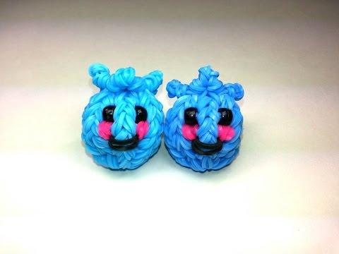 3-D Happy Blueberry Tutorial by feelinspiffy (Rainbow Loom)